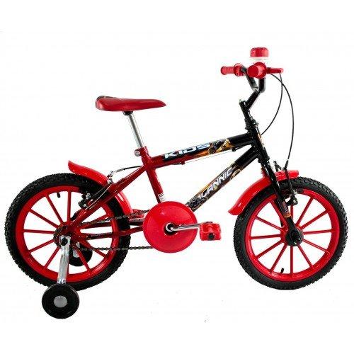 Bicicleta Aro 16 Dalannio Bike Kids Infantil Masculina Vermelha
