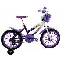 Bicicleta Aro 16 Dalannio Bike Milla Infantil Feminina Roxa