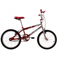 Bicicleta Aro 20 Dalannio Bike Freestyles Masculina Cromada Com Vermelho