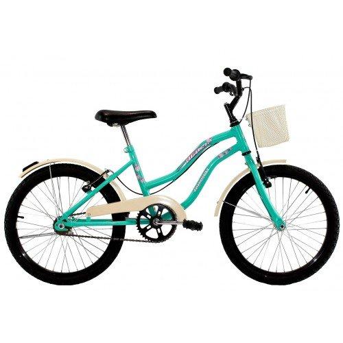 Bicicleta Aro 20 Dalannio Bike Beach Retrô Feminina Azul Turquesa