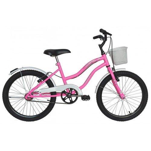 Bicicleta Aro 20 Dalannio Bike Beach Retrô Feminina Rosa Chiclete
