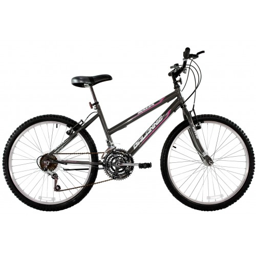 Bicicleta Aro 24 Feminina Dalannio Bike Dalia 18 Marchas Grafite