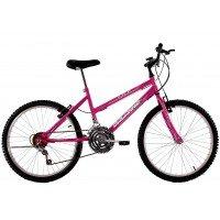 Bicicleta Aro 24 Feminina Dalannio Bike Life 18 Marchas Rosa Pink