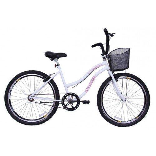 Bicicleta Aro 26 Dalannio Bike Beach Feminina Sem Marcha Branca
