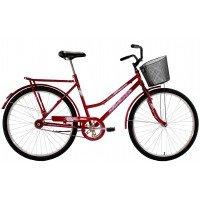 Bicicleta Aro 26 Feminina Dalannio Bike Classic Freio no Pé Vermelha