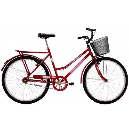 Bicicleta Aro 26 Feminina Dalannio Bike Classic V-Brake Vermelha
