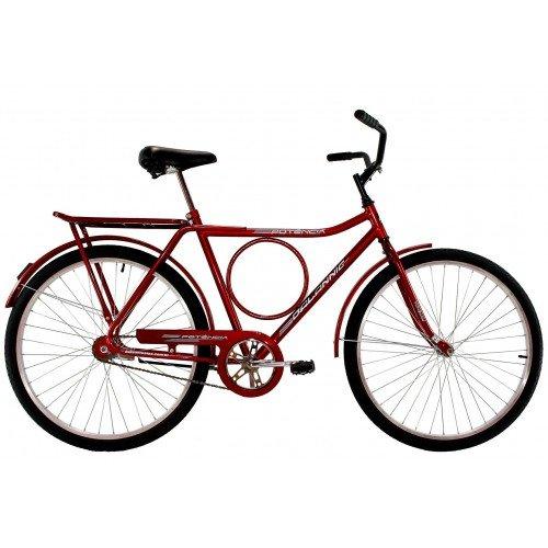 Bicicleta Aro 26 Masculina Dalannio Bike Potencia Freio no Pé Vermelha
