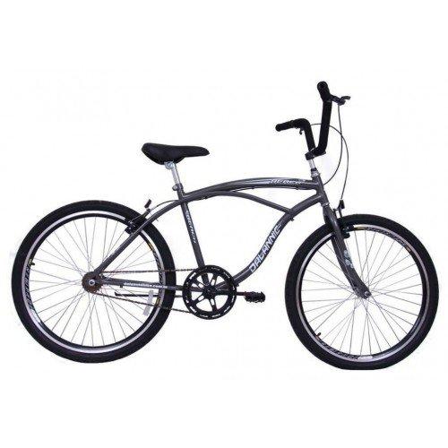 Bicicleta Aro 26 Dalannio Bike Beach Masculina Sem Marcha Grafite