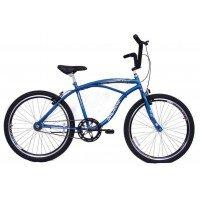 Bicicleta Aro 26 Dalannio Bike Beach Masculina Sem Marcha Azul