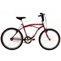 Bicicleta Aro 26 Dalannio Bike Beach Masculina Sem Marcha Vermelha