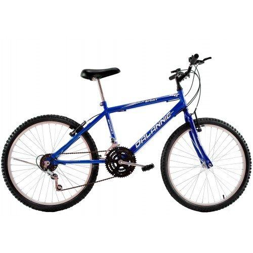 Bicicleta Aro 26 Masculina Dalannio Bike Sport 18 Marchas Azul