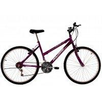 Bicicleta Aro 26 Feminina Dalannio Bike Life 18 Marchas Roxa
