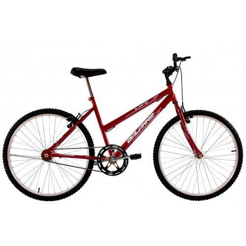 Bicicleta Aro 26 Feminina Dalannio Bike Life Sem Marcha Vermelha