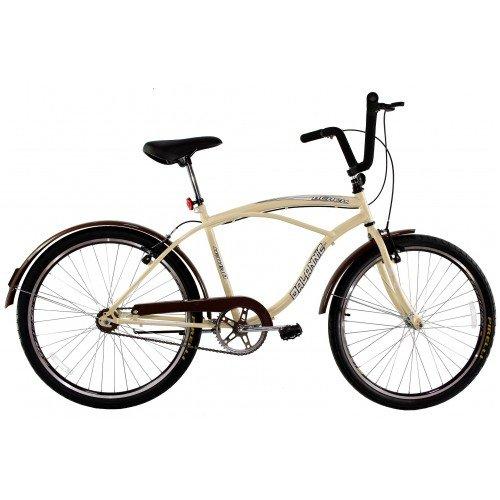 Bicicleta Aro 26 Dalannio Bike Beach Retrô Masculina Bege
