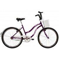 Bicicleta Aro 26 Dalannio Bike Beach Retrô Feminina Violeta