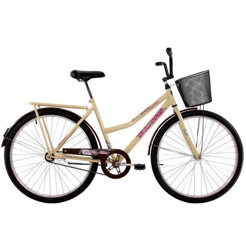 Bicicleta Aro 26 Feminina Dalannio Bike Classic New Freio no Pé Bege