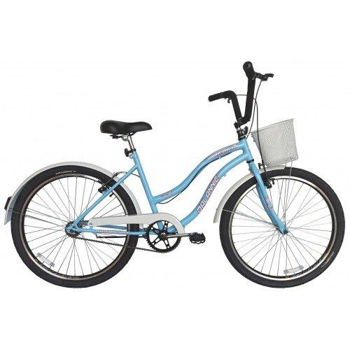 Bicicleta Aro 26 Dalannio Bike Beach Retrô Feminina Azul Bebê