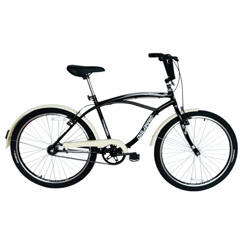 Bicicleta Aro 26 Dalannio Bike Beach Retrô Masculina Preta