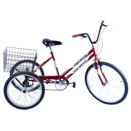 Bicicleta Aro 26 Dalannio Bike Triciclo Vermelho