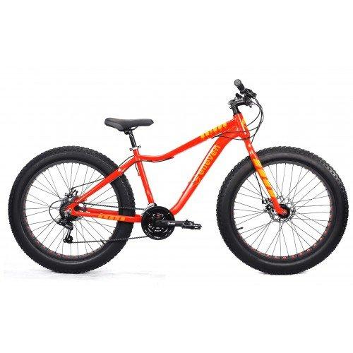 Bicicleta Aro 26 Fat Elleven Aliens 21v Shimano Laranja