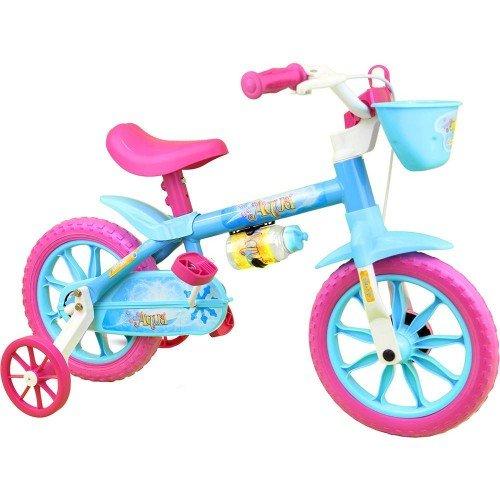 Bicicleta Aro 12 Nathor Aqua Infantil Feminina