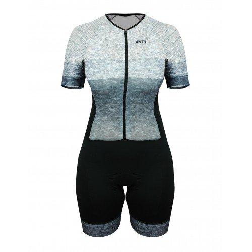 Macaquinho Ciclismo Feminino SportXtreme Comfort Mescla Cinza